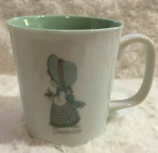 1987 Enesco Precious Moments Coffee Mug Cup December