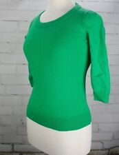 J. Crew Tippi Sweater Women's Pullover 100% Merino Wool 3/4 Sleeves XS Green