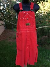 Vintage 1970s Dee Cee Red Jeans Overalls Cut Offs Shorts Red Neck Western Summer