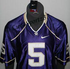 Washington Huskies Football Purple Nike Sewn Stitched Jersey #5 Baccellia Men L