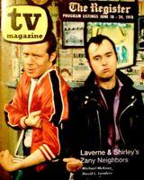 TV Guide 1978 Lenny & Squiggy McKean & Landers Regional TV Magazine EX COA