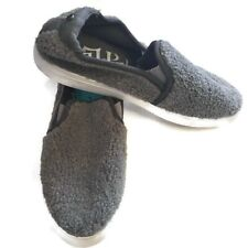 Womens Mad Love Kam Sherpa Twin Gore Sneakers Slip On Gray New Size 10