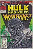 WHAT IF#50 VF/NM 1993 HULK KILLS WOLVERINE MARVEL COMICS