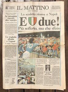 Il Mattino - Lunedì 30 Aprile 1990 - E DUE!  - 2° Scudetto NAPOLI