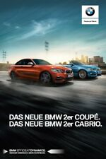 2018 MY BMW 2 Coupe Cabrio catalogue brochure German int'l