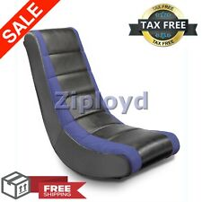 Video Game Rocker Gaming Lounger Rocking Chair Floor Seat Furniture - Blue NEW
