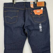 New Levis 501 Shrink To Fit Button Fly Rigid Denim Jeans 46 X 29 Big And Tall