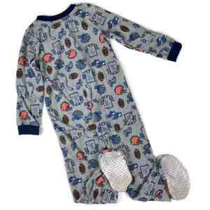 Carters One Piece Footsie Football Novelty Pajamas Gray Toddler Boys Size 5T