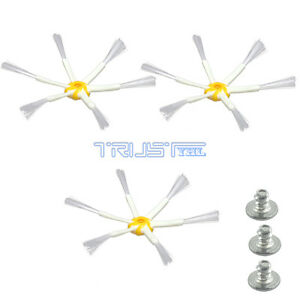 3PCS 6 Arm Spinning Side Brush for iRobot Roomba 530 550 560 770 780