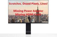 "Samsung S27R750Q 27"" LCD QHD Space Monitor Black For Parts - See Photos!"