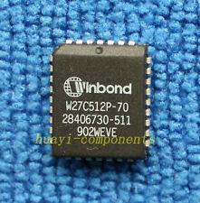10pcs W27C512P-70 W27C512P PLCC WINBOND NEW