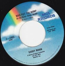 "BARRY MANN - Who Put The Bomp  7"" 45"