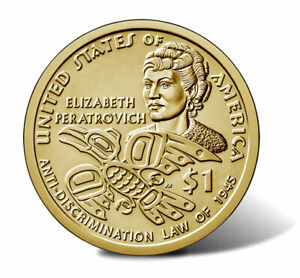 2020-D $25 Sacagawea Golden Dollar Coin Roll - Native American - Elizabeth Mint