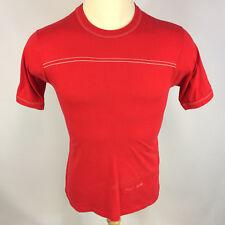 Vintage 60s 70s Distressed Worn Blank Plain Red T Shirt Jersey Sportswear Usa