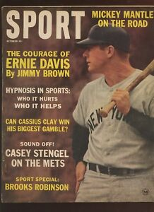 October 1963 Sport Magazine With Mickey Mantle Front Cover VGEX