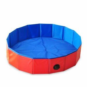 Dog Swimming Pool Foldable Pet Bath Tub Bathtub Collapsible Bathing Cats Kids 1x