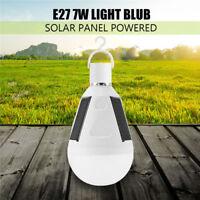 1Pcs LED Solar Light Bulb 7W E27 Tent Camping Fishing Solar Lamps Rechargeable