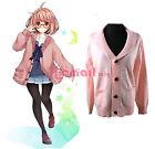 Kyoukai no Kanata Kuriyama Mirai Cosplay Costume Pink Sweater Long Sleeve