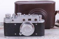 Vintage camera Leica 35 mm Leitz Elmar lens f = 5, 1:3.5