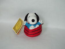 "Snoopy 4"" Peanuts Hallmark Happiness Is A Joy Ride pull string motion Toy w/ tag"