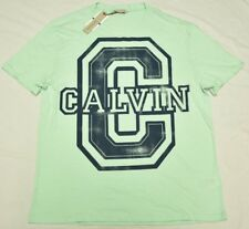 Calvin Klein Jeans T-Shirt Men Size XL C-Badge Logo Graphic Tee Brook Green N964
