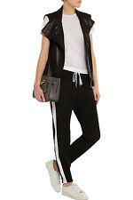Michael Michael Kors Black White Track Pants Trousers Sport Stripe NWT