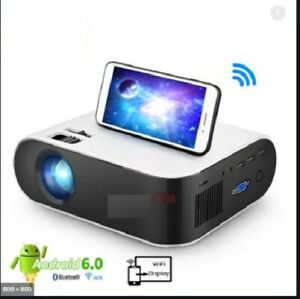 12000 Projector Smart LED HD 1080P Home Cinema With Airplay WiFi Built ANDROID