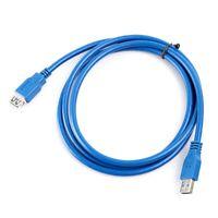 1X(5pies 5Gbps 1.5m alta velocidad USB 3.0 A macho a hembra cuerda cable de e 2I
