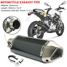 38mm-51mm Universal Motorcycle ATV Slip-On Exhaust Muffler Pipe with DB Killer
