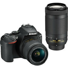 Nikon D5600 DSLR 24.2 MP Camera with 18-55mm & 70-300mm Lenses Bundle in Black