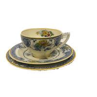 "Vintage Grindley & Co Bone China Trio Set England ""Chelsea Ivory"" Tea Cup Saucer"