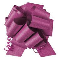 "Single 8"" No Mess Diamond Glitter Pull Bows Pew Wedding Christmas Gift Wrap"