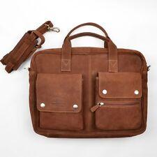 GreenLand Nature BUFFALO Leather Soft Aktentasche Briefcase Bag Tasche Leder