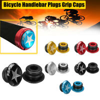 1 Pair Handlebar Bar Bike MTB Aluminum Grip End Plugs Stoppers Caps + 4 Aprons