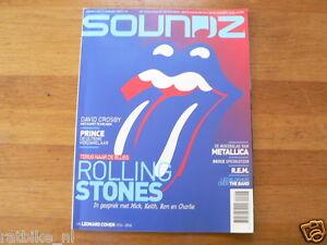 SOUNDZ MUSIC MAGAZINE 2016-06 ROLLING STONES,METALLICA,REM,LEONARD COHEN,PRINCE