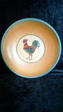 """Monroe Salt Works Pottery Large Bowl With Rooster 12 1/2"""""""