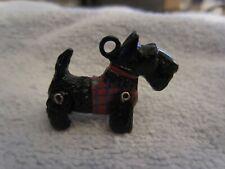 Vintage Hantel Pewter Miniatures Schnauzer Dog With Tag