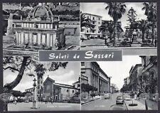 SASSARI CITTÀ 39 SALUTI da... VEDUTINE Cartolina viaggiata 1960