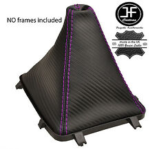PURPLE STITCH CARBON VINYL GEAR BOOT FITS HOLDEN VY VZ COMMODORE 5 & 6 SPEED