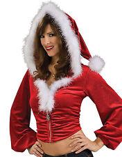 Veste Capuche Tenue Mère Noël Sexy NEUF
