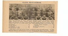 Clyde & Cathedral Latin Cleveland Ohio 1929 Football High School Team Picture