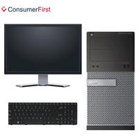 Dell Optiplex 3020 MT Quad Core 3.3 GHZ I5-4590 Win 10 Pro Wifi SSD Monitor ++
