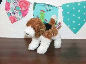 """Douglas Cuddle Baron Puppy Dog Beagle Tri Color Plush Cream 5"""" Brown Toy 1508"""
