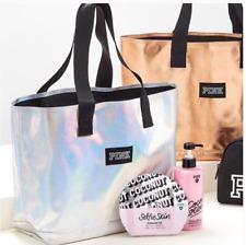 NEW Victoria's Secret 2018 PINK Silver Iridescent Tote Bag Free Ship