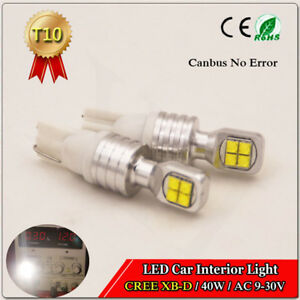 2PCS SUPER BRIGHT T10 w5w CREE 40W LED PARKER TAIL LIGHT CANBUS NO ERROR 9-30V