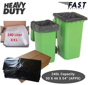 Strong Wheelie Refuse Sacks Clear Black Bin Liner Dustbin Bags XL Size
