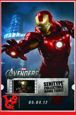 IRON MAN AVENGERS SENITYPE Movie Ticket Pellicule Film 2000ex Collector # NEUF #