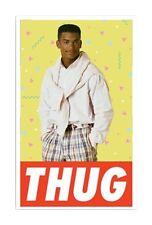 "3"" Funny Thug Life Tough Guy Cool Hilarious Die Cut Skate Work Hard Hat Sticker"