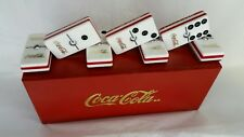 Coca-Cola Domino Set Double Six Man Cave Pub Bar Dominoes Game Coca Cola New