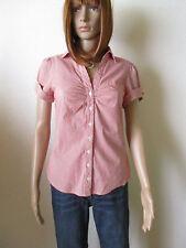 H&M Damen Bluse Gr.40 rot-weiß gestreift 1/2 Arm